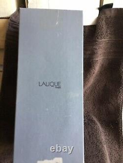Lalique partially frosted crystal vase -11