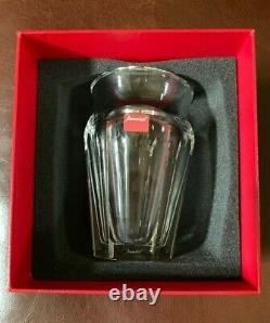 NEW IN BOX BACCARAT solid crystal Nelly Vase vintage 1970's