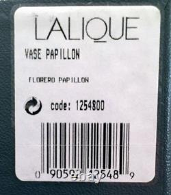 NEW Lalique Papillon Butterfly Vase in Original BOX Mint Condition RARE