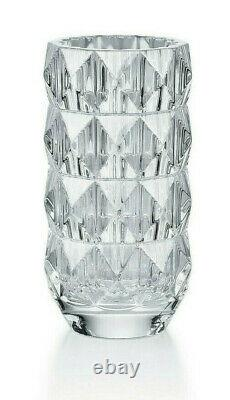 New Baccarat Crystal Louxor Round Vase Small #2813291 Brand Nib Clear Save$ F/sh