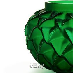 New Lalique Languedoc Small Vase Bronze Black Green 10488800 10488900 10648300