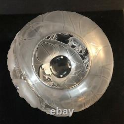 RARE Large 11 Lalique France Crystal Elephant Vase Borneo Mint Condition