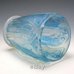 R Lalique Blue Stain Opalescent Danaides Vase Marcilhac 972