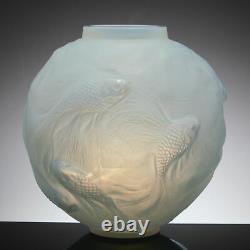 R Lalique Cased Opaescent Formose Vase Introduced 1934