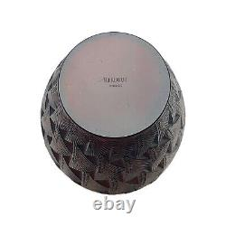 R. Lalique Grignon Molded Amber Glass Vase