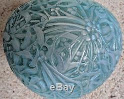 R Lalique'Gui' (Mistletoe) Vase with Blue Patina