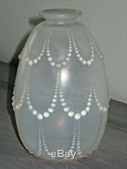 R. Lalique Rene Lalique France Perles Opalescent Vase Circa 1925