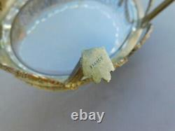 Rare Antique French Jardiniere Cut Crystal Gilt Bronze Footed Dish Bowl France