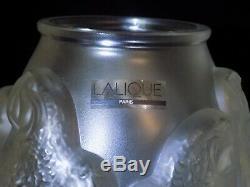 Rare- Lalique Crystal Parrot Vase