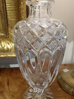 Rare Pair Baccarat Cut Crystal Vases