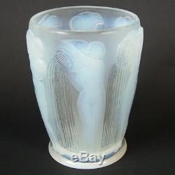 Rene Lalique Opalescent Glass'Danaides' Vase