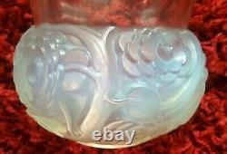 Rene Lalique Vase Renoncules 15 cm tall opalescent glass R. Lalique Vase RARE