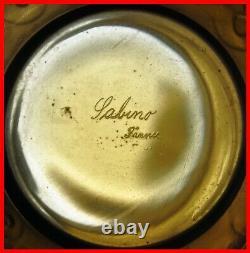 Sabino Amber Glass Vase Model Libellules 7008