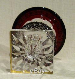 Saint St Louis Ruby Red Versailles Thistle Vase