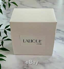 Small Lalique French Crystal Saumur Vase Grapes & Vines Mint Signed Nice