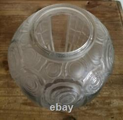 Superb French Art Deco Glass Vase by Andre Hunebelle c1930 22.5cm Tall