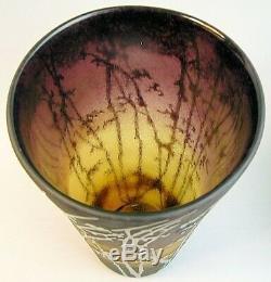 Superb Large Schneider French Art Deco Cameo Glass Vase