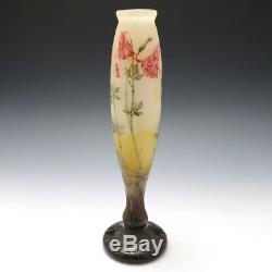 Tall Daum Nancy Floral Vase c1910