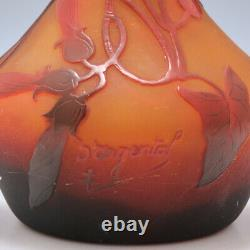 Three Colour Cameo d'Argental Vase By Paul Nicolas c1920