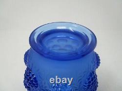 Verlys French Art Glass Blue Vase