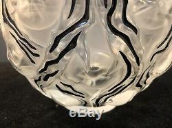 Very Rare Large Lalique Thorns Vase withBlack Enamel Excellent Condition