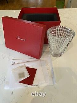Vintage Baccarat Crystal Round Eye Vase Small with original box. Never been used