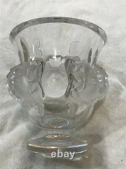 Vintage Lalique France Crystal Dampierre Vase Birds beautiful